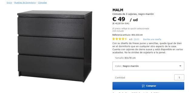 VENDO ESTRUCTURA DE CAMA IKEA Y CÓMODA