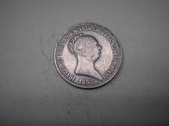 20 Reales De 1852.Isabel Ii. Copia En Me