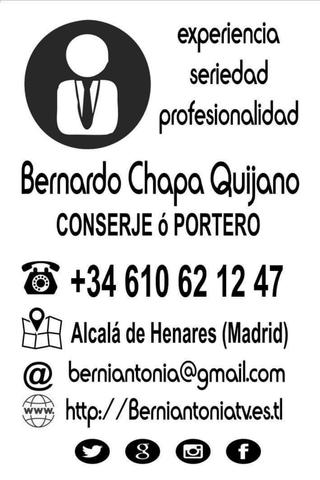 CONSERJE O PORTERO PROFESIONAL ESPAÑOL - foto 1