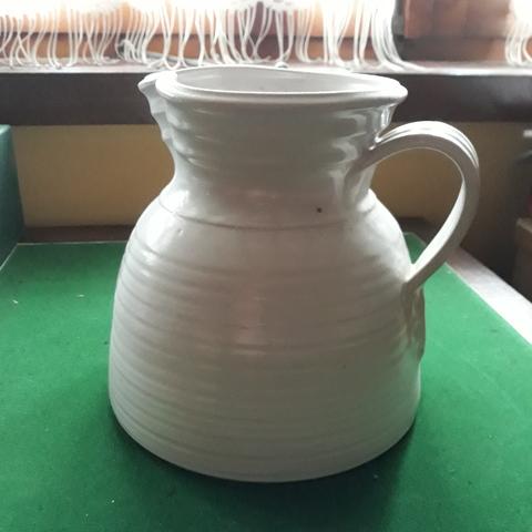 MIL ANUNCIOS.COM Jarra de ceramica blanca esmaltada