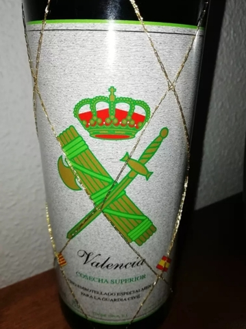 Botella D Vino Guardia Civil