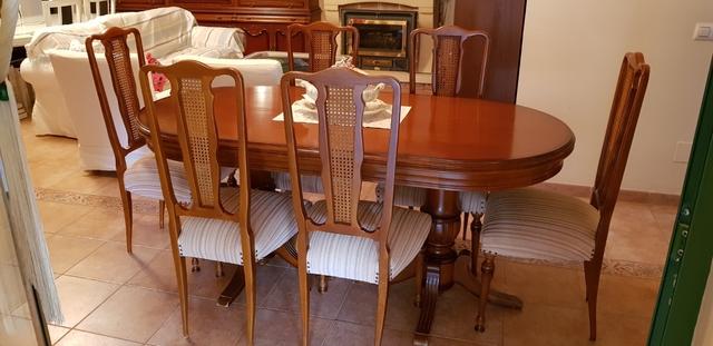 MIL ANUNCIOS.COM - Mesa comedor madera maciza con 6 sillas