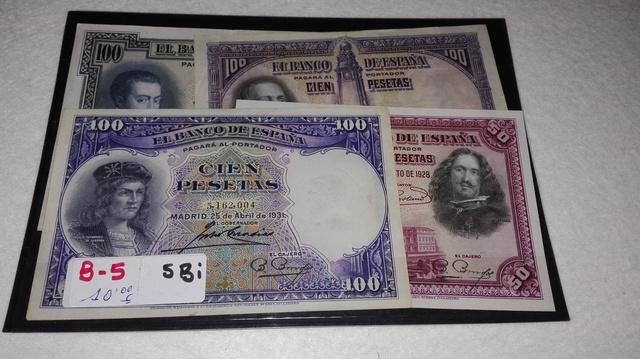 B-5 ++Billetes Españoles++ (4 Billetes)
