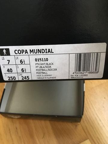 BOTAS DE FÚTBOL ADIDAS COPA MUNDIAL.  - foto 3