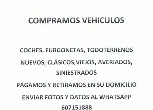 COMPRAMOS COCHES T. T.  Y FURGONETAS - foto 1