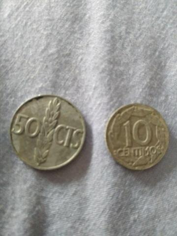 Vendo Monedas De 50 Y 10 Centimos