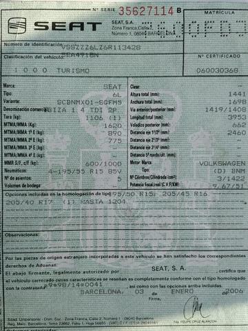 DESPIECE DE SEAT IBIZA POR ACCIDENTE - foto 1