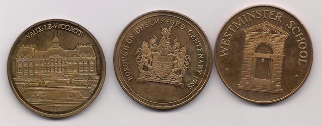 Gran Bretaña, Medallas Escudos Ingleses
