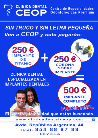 IMPLANTE +CORONA=500 EUROS EN SEVILLA - foto 2
