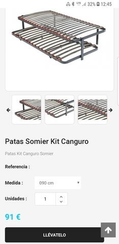 Kit Patas Somier Canguro.Patas Cama Nido Pikolin