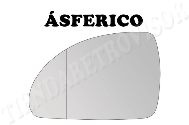 CRISTAL RETROVISOR KIA CEED 2007-2009 ASFERICO