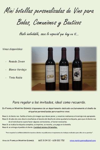 Botellas De Vino Para Regalar En Bautizos.Mini Botellas De Vino Para Bodas Etc
