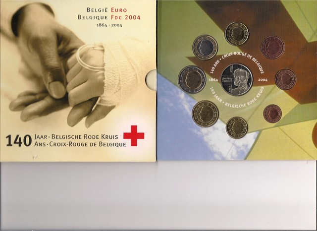 Cartera Bélgica 2004. Cruz Roja
