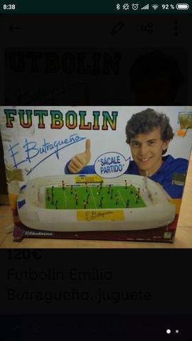 Juguete Futbolin Emilio Butragueño