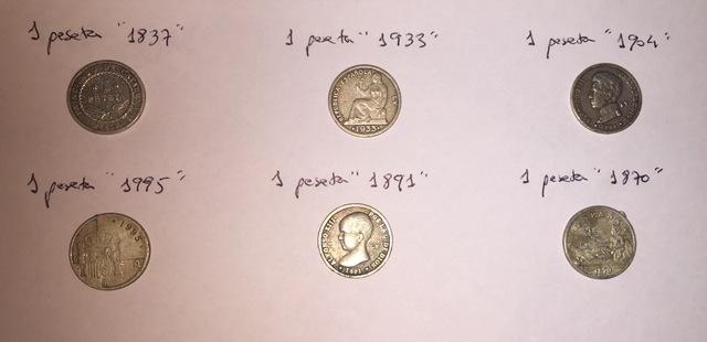 6 Reproducciones De Monedas Antiguas