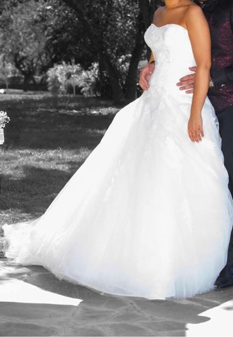 Vestido Novia Blanco Pronovias Velo