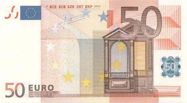 BILLETE UE 50 EUROS - PLANCHA - foto 1