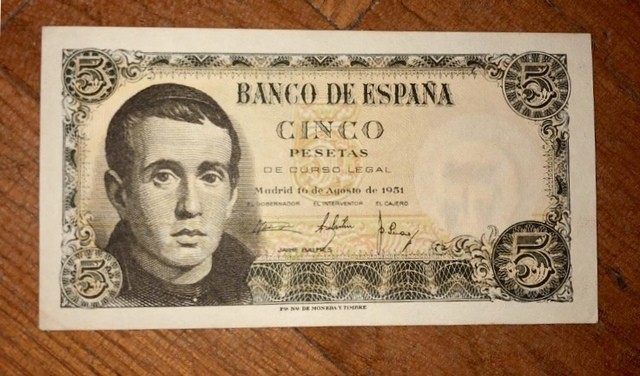 Billete 5 Pesetas De 1951