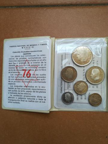 Cartera Monedas Juan Carlos 1975 Fnmt