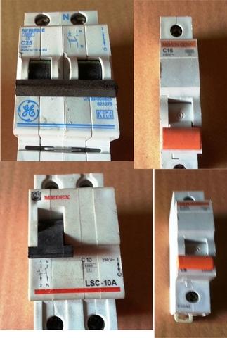 Varios Interruptores  Magnetotermicos.  .