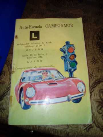 Libro Antiguo Autoescuela Campoamor