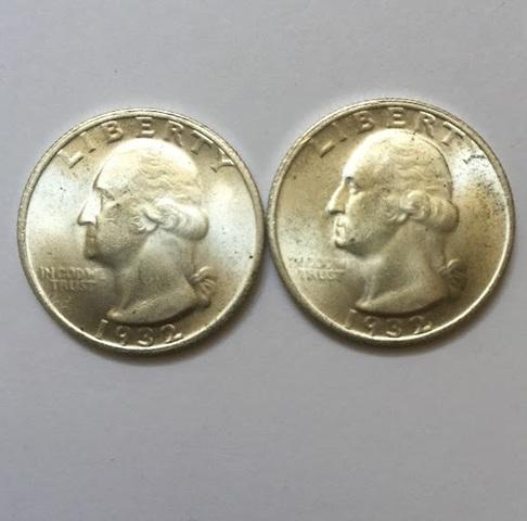 Cuarto Dolar Usa De Dos Caras Iguales De