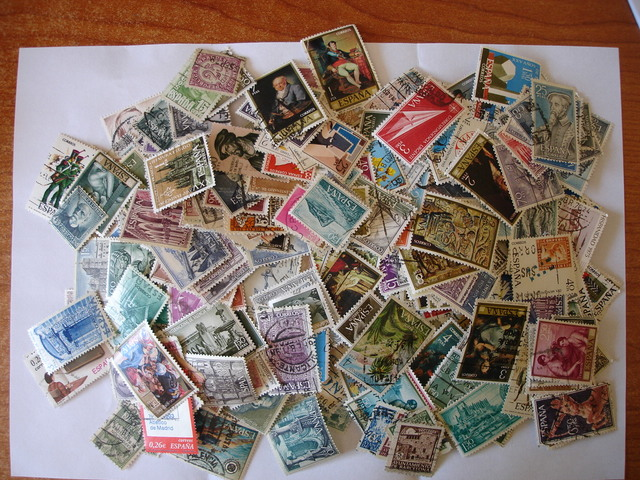 1800 Gramos De Sellos Usados Españoles