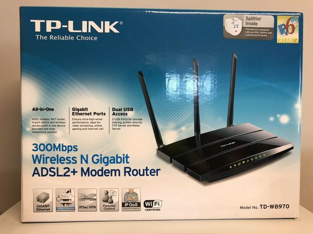 TP-LINK TD-W8970 ROUTER MODEM WIRELESS-N - foto 1