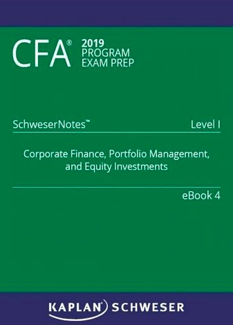 SCHWESER NOTES 2019 CFA