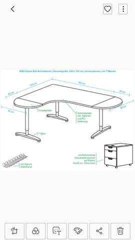 MESA OFICINA GALANT IKEA EN L