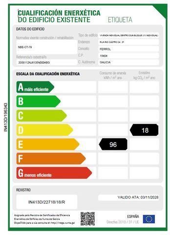 CERTFICADO ENERGETICO FERROL - foto 2