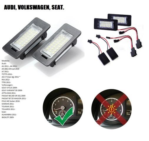 Adaptador SMD LED iluminación de la matrícula resistencia audi a1 8x a3 8v q5 8r q3 8u