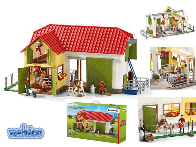 Schleich 42407-granja World-granja con establo y animales