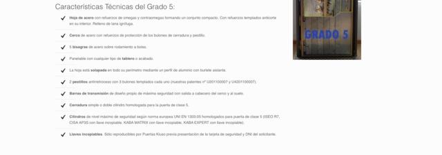 PUERTA ACORAZADA GRADO 5 - foto 1