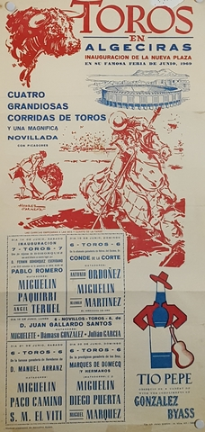 CARTEL PLAZA DE TOROS DE ALGECIRAS 1969