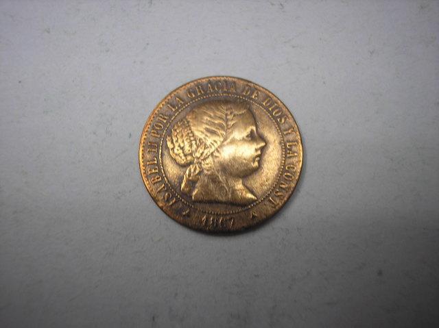 1/2 Centimo De Escudo De 1867.Segovia