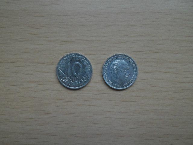 Monedas Antiguas 10 Centimos 41,45,53,59