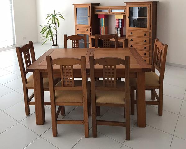 Muebles-MQM Mesa de comedor de madera maciza reciclada 115x60x76 cm
