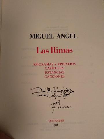 LAS RIMAS.  MIGUEL ÁNGEL.  - foto 1
