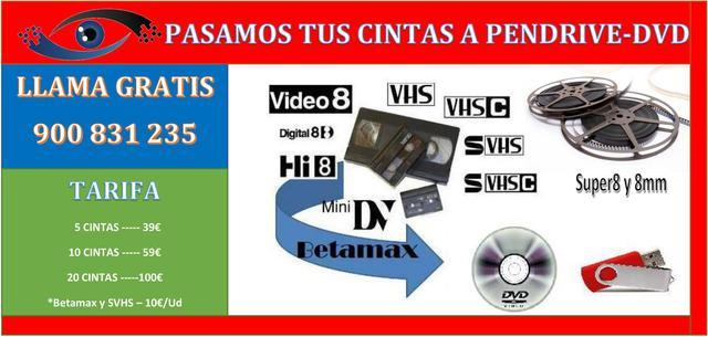 PASAMOS CINTAS A PENDRIVE  DVD O HDD - foto 1