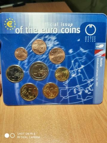 Cartera Euros Austria 2002