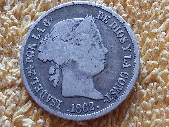 Moneda De Plata 4 Reales 1862