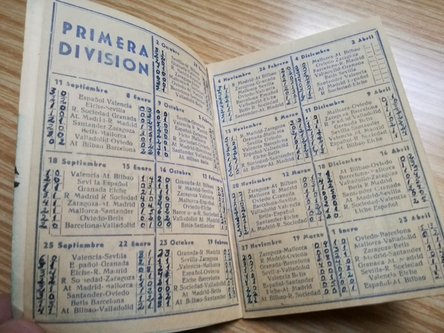 Calendario Del 1961.Calendario De Liga 1960 1961 Ndisa