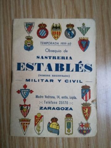 CALENDARIO DE LIGA 1959-1960\NSASTRERIA - foto 1