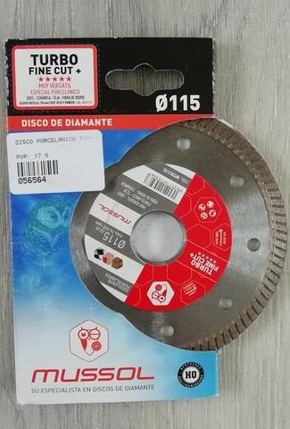 Disco Diamante Turbo Porcelánico 115Mm