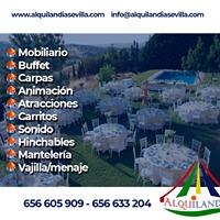 ALQUILER DE CARPAS Y MOBILIARIO - foto 1