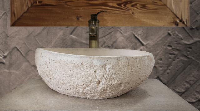 Lavabo Piedra Precios.Lavabo Rustico De Piedra