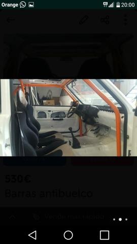 BARRAS ANTIVUELCO PARA CLASICOSSEAT 850. . 850 ESPECIAL - BARRAS ANTIVUELCO CLASICOS SEAT 850 . 124. SEAT PAND - foto 4