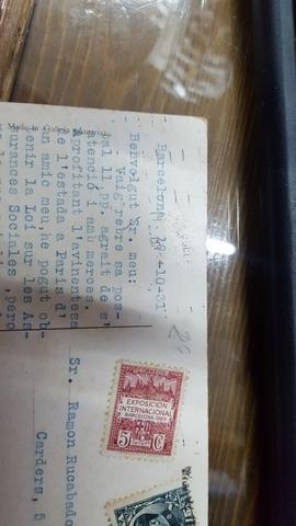 POSTAL , SELLOS.  AÑOS 1931 - foto 1