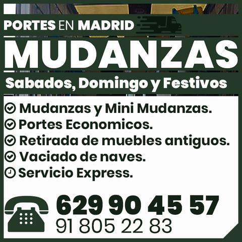 MUDANZAS PORTES ECONOMICOS EN MADRID - foto 1